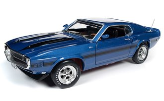 """1:18 1969 Shelby Mustang Fastback """"50th Anniversary of the Boss & MCACN"""" (Acapulco Blue)"""