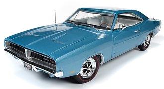 "1:18 1969 Dodge Charger R/T Hardtop ""MCACN"" (B3 Ligh Blue Metallic)"