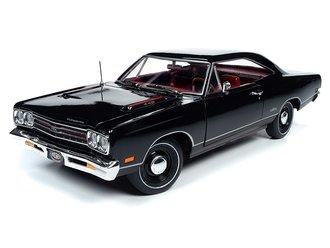 "1:18 1969 Plymouth GTX Hardtop ""MCACN"" (X9 Black Velvet)"