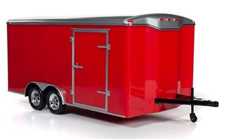 Enclosed Trailer (Red w/Silver)