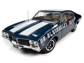 "1969 Oldsmobile Cutlass 442 2-Door Coupe ""Dr Oldsmobile's W-Machine"" (Trophy Blue)"
