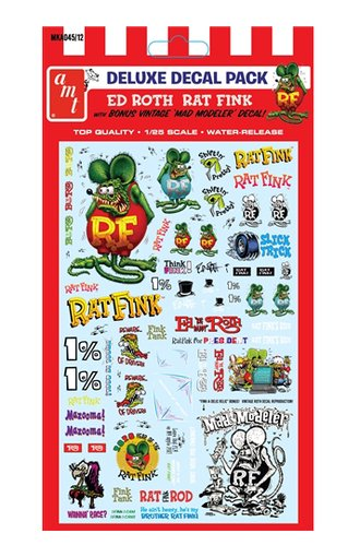 1:25 Rat Fink Decal Pack