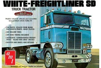 1:25 White-Freightliner Single Drive Tractor (Model Kit)