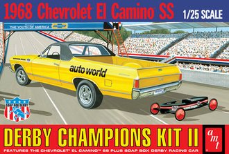1:25 1968 El Camino (with Bonus Soap Box Derby Car) (Model Kit)