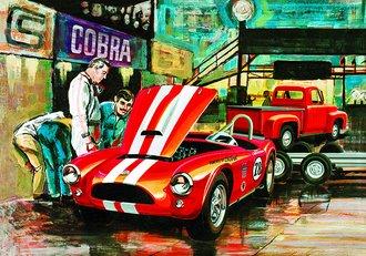 1:25 Cobra Racing Team Shelby Cobra & 1953 Ford Pickup & Trailer (Model Kit)