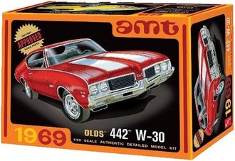 1:25 1969 Oldsmobile W-30 442 (Model Kit)