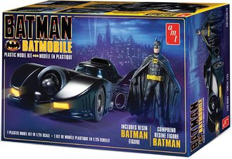 1:25 Batman 1989 Batmobile w/Resin Batman Figure (Model Kit)