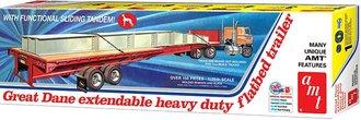 1:25 Great Dane Extendable Flatbed Trailer (Model Kit)