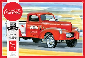 "1:25 1940 Willys Pickup Gasser ""Coca-Cola"" (Model Kit)"