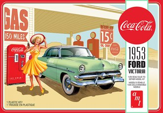 1953 Ford Victoria Hardtop w/Coca-Cola Machine 2T (Model Kit)