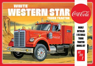 "1:25 White Western Star Semi Tractor ""Coca-Cola"" (Model Kit)"