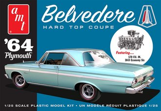1964 Plymouth Belvedere (w/Straight 6 Engine) 2T (Model Kit)