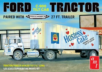"Ford C-900 Tractor w/27' Trailmobile Trailer ""Hostess Cake"" (Model Kit)"