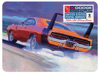 "1969 Dodge Charger Daytona ""USPS Stamp Series Collector Tin"" (Model Kit)"