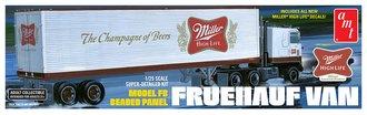 "Fruehauf 40' Semi Trailer ""Miller Beer"" (Model Kit)"