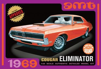 1:25 1969 Mercury Cougar (Orange) (Model Kit)