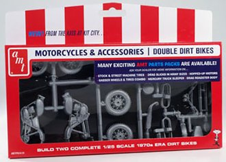 1:25 Motorcycle & Accessories - Double Dirt Bikes (Model Kit)