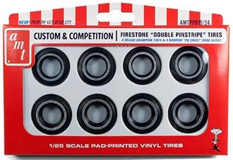 1:25 Custom & Competition - Firestone 'Double Pinstripe' Tires Parts Pack