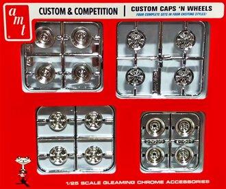1:25 Custom & Competition - Custom Caps 'n Wheels Parts Pack