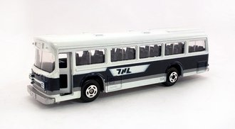 1:100 Hino RE120 Single Door Bus (White/Blue)