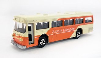 "1:100 Hino RE120 Single Door Bus ""Airport Limousine"" (White/Orange)"