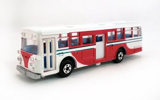 1:100 Hino RE120 Double Door Bus (White/Red)