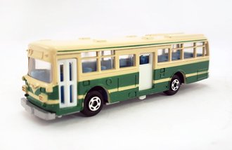 1:100 Hino RE120 Double Door Bus (Green/Creme)