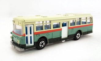 1:100 Hino RE120 Double Door Bus (Green/Red)