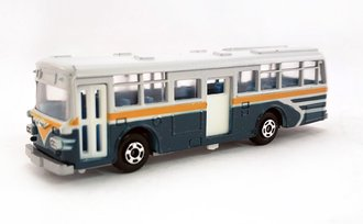 1:100 Hino RE120 Double Door Bus (White/Green))