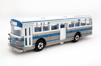 1:100 Hino RE120 Double Door Bus (White/Blue)