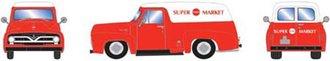"1:87 1955 Ford F-100 Panel Truck ""Super Food Market"""