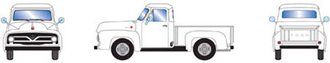 1955 Ford F-100 Pickup (White)
