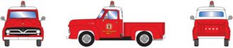 "1:87 1955 Ford F-100 Pickup ""Fire Department"""