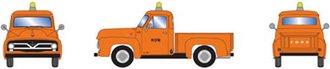 """1:87 1955 Ford F-100 Pickup """"M.O.W."""" (Orange)"""