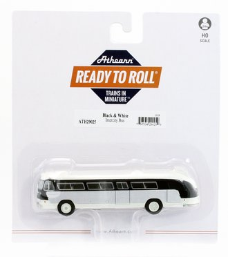 1:87 Flxible Clipper Intercity Bus (Black/White)