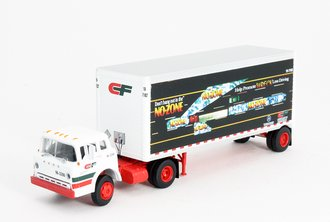 "Ford C w/28' Expost Trailer ""Consolidated Freightways"" (Whte/Red/Green)"