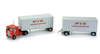 """Freightliner COE w/28' Double Pups """"P*I*E (Pacific Intermountain Express)"""""""