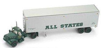 "Mack B w/40' Van Trailer ""All States"" (Green/Silver)"