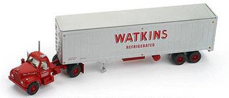 "Mack B w/40' Van Trailer ""Watkins Refrigerated"" (Red/Silver)"