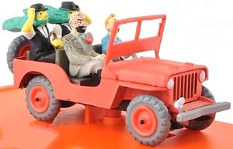 1:43 1943 Willys MB (Red) w/Figures from Tim & Struppi