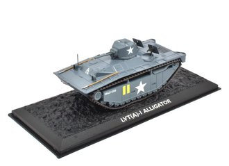 "Landing Vehicle Tracked LVT(A) 1 Alligator-""Crazy Legs,"" 6th Armored Div, Yellow Beach 2 Saipan 1944"