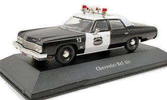"1:43 1973 Chevrolet Bel Air Police Car ""Norwich, NY"" (Black/White)"