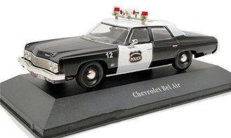 "1:43 1973 Chevrolet Bel Air Police Car ""Norwich, NY"" (Black/White)"
