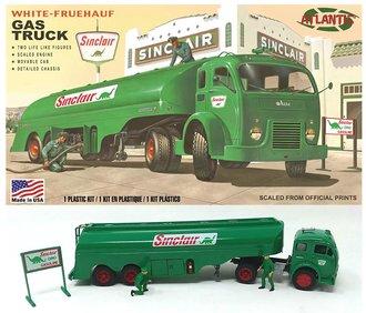 "1:48 White COE Semi w/Fruehauf Tanker Trailer ""Sinclair"" (Model Kit)"