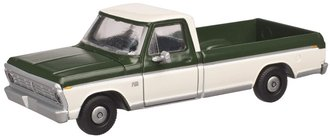 1:48 1973 Ford F-100 Pickup (Mallard Green/White)