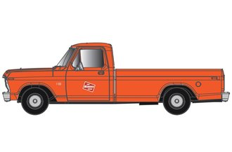 "1:48 1973 Ford F-100 Pickup ""Milwaukee Road"" (Orange/Red)"
