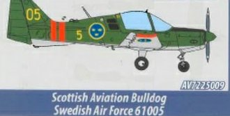 Scottish Aviation Sk 61 Bulldog - Swedish Air Force