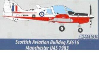 "Scottish Aviation Bulldog - ""XX616"" Manchester University Air Squadron, RAF Volunteer Reserves"