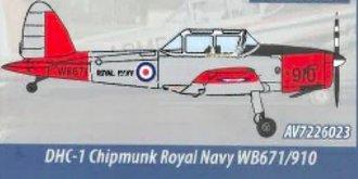de Havilland Canada DHC-1 Chipmunk T.10 - WB671, Royal Navy