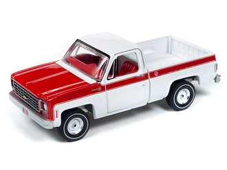 """1976 Chevy Scottsdale Truck """"Olympic Edition"""" (White/Red)"""